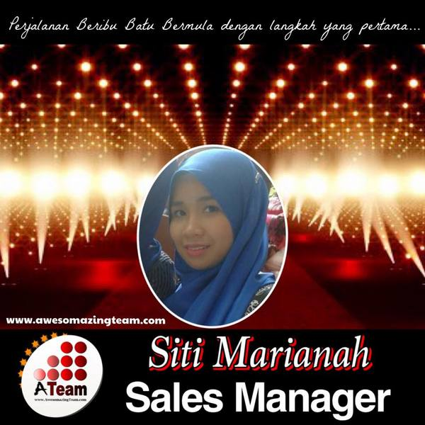 siti marianah mendapat tittle sales manager 2015