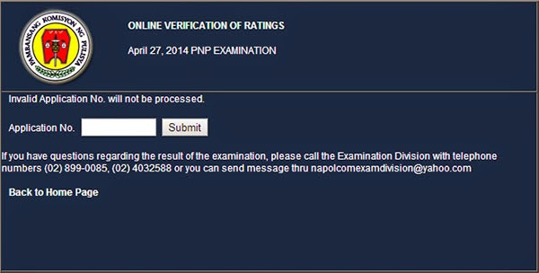 Napolcom Online Verification of Ratings