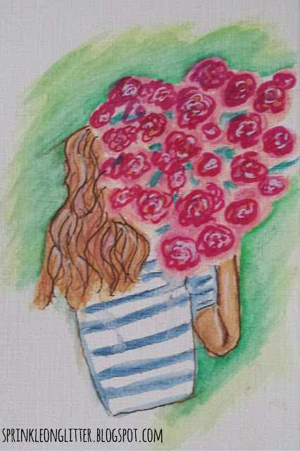 Day 31- watercolor- write 31 days