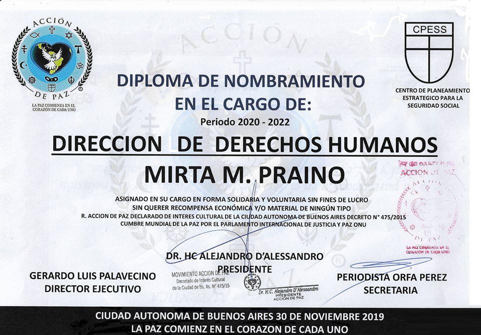 Direccion de Derechos Humanos Accion de Paz CPESS