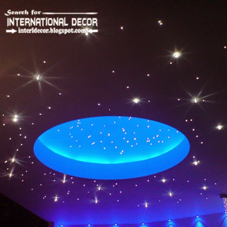 Modern starry sky ceiling design for kids room, kids room ceiling decorations