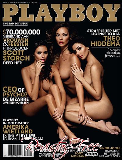 Sarah Nile, Francesca Lukasik, Federica Ariafina - Playboy Netherlands - Abril 2014