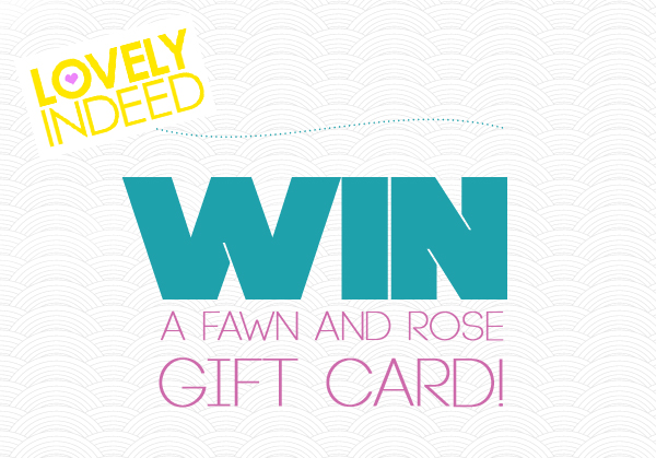 Win a $25 gift card via Lovely Indeed