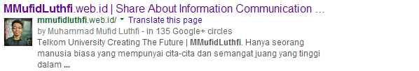 Google Plus Authorship | MMufidLuthfi