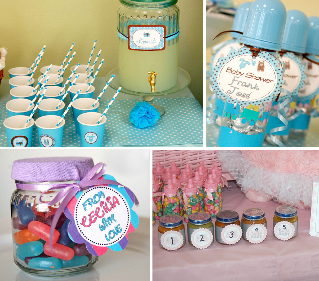 Little things creations ideas de fiesta etiquetas circulares - Ideas decoracion bebe ...
