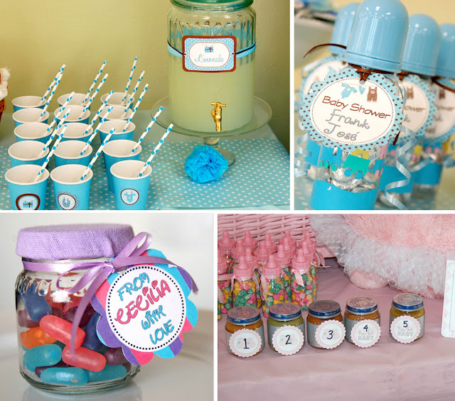 in a baby shower en un baby shower
