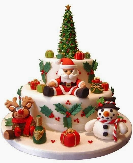 Christmas Cake Design 2018 : Christmas 2015 Cake Recipes with Pictures Pinterest