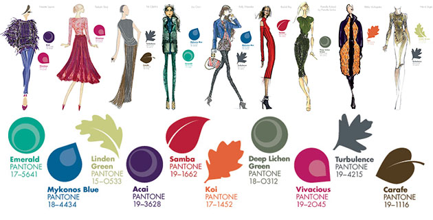 colours according to the Pantone University