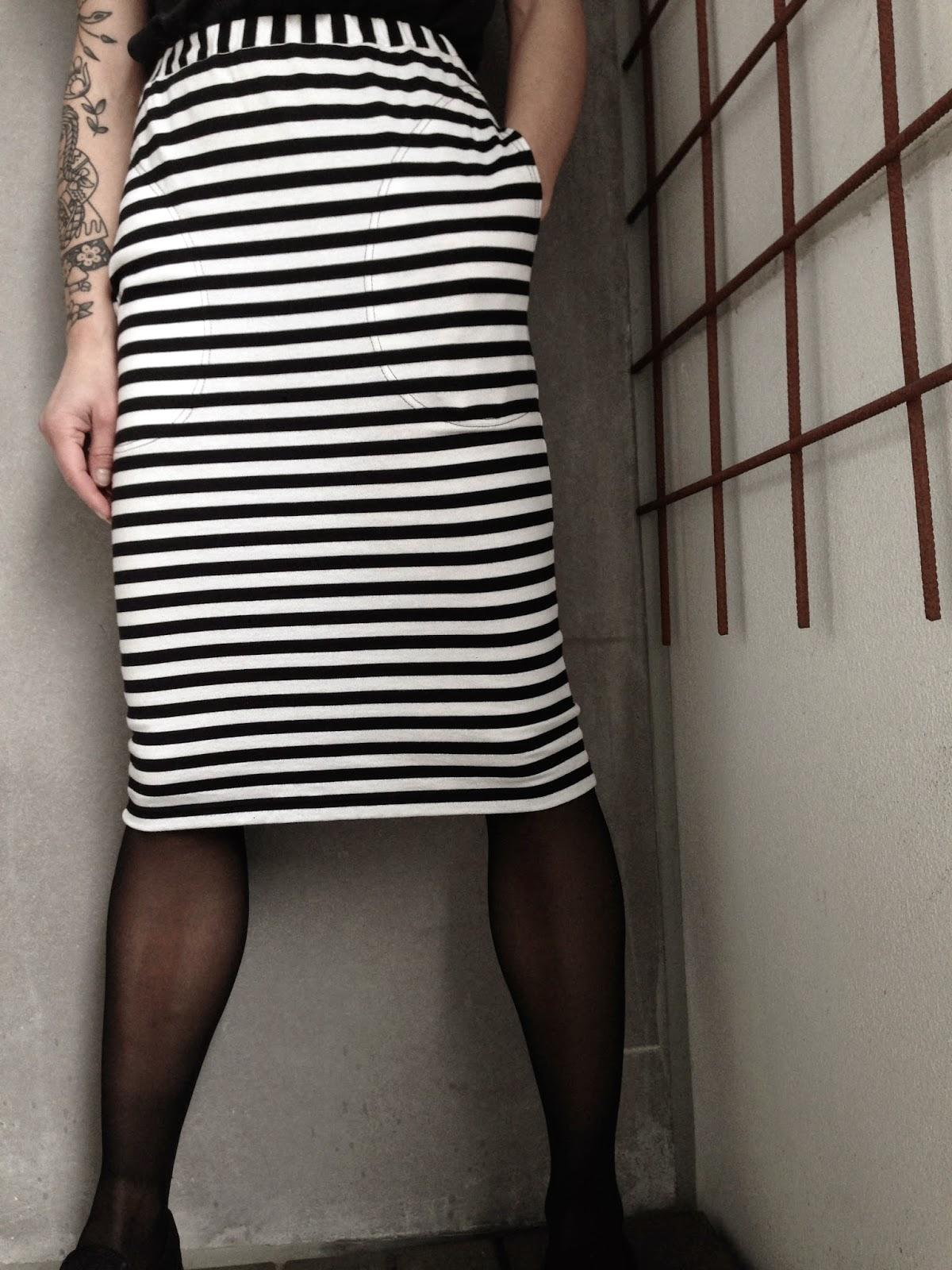 Marimekko skirt, marimekko striped skirt, marimekko randig kjol, marimekko raita