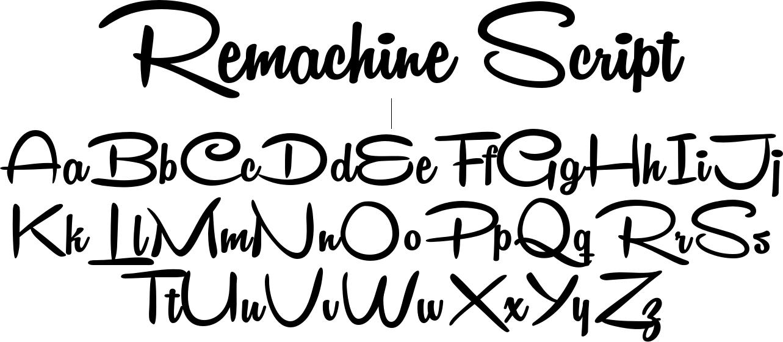 خط Remachine Script