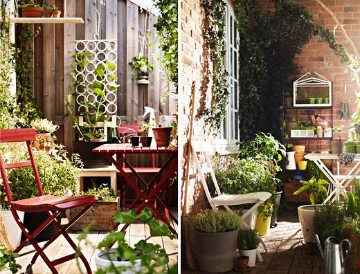 Muebles para la terraza guia de jardin - Ikea terraza y jardin ...