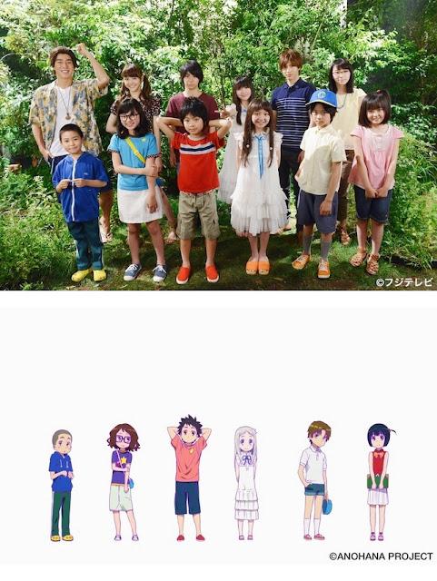 Anohana Live-Action Pemeran Anak-Anak