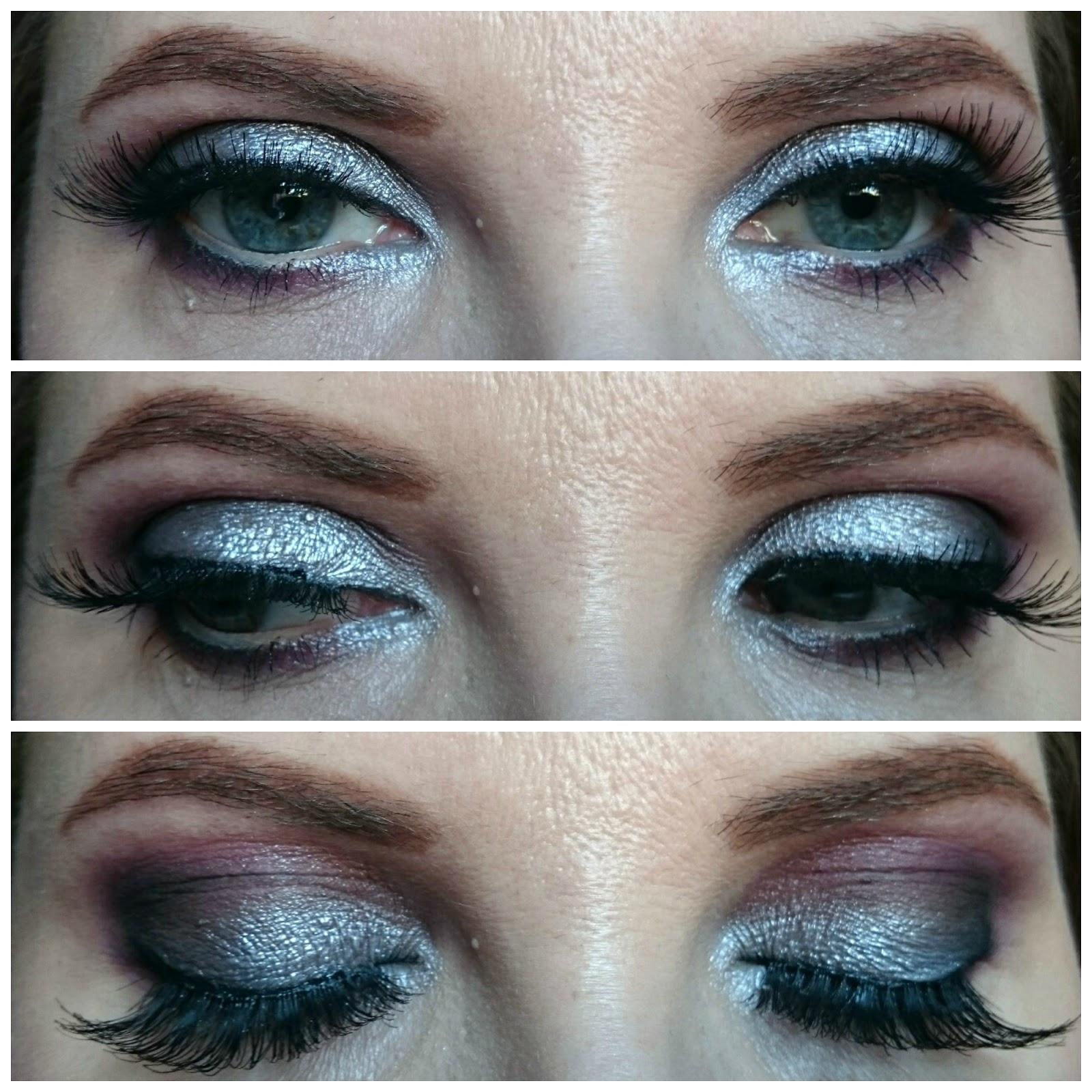 Grey tones makeup look