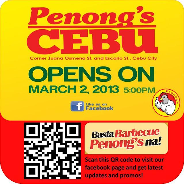 Penong's Cebu now open in Cebu!