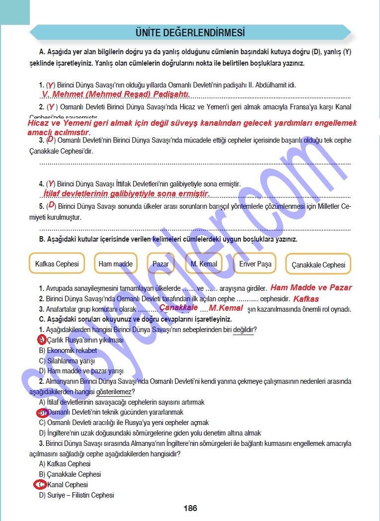 Sınıf sosyal bilgiler ders kitabı cevapları 7 sınıf sosyal