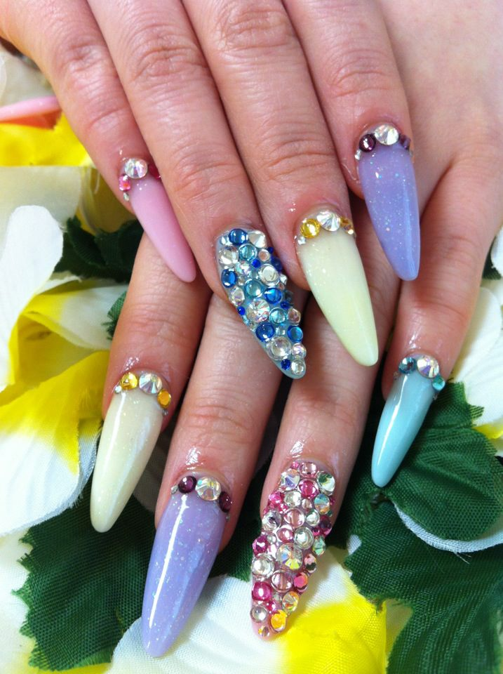 ♥Cute Nail Designs♥: Mix Pastel Color Nails by Ayano
