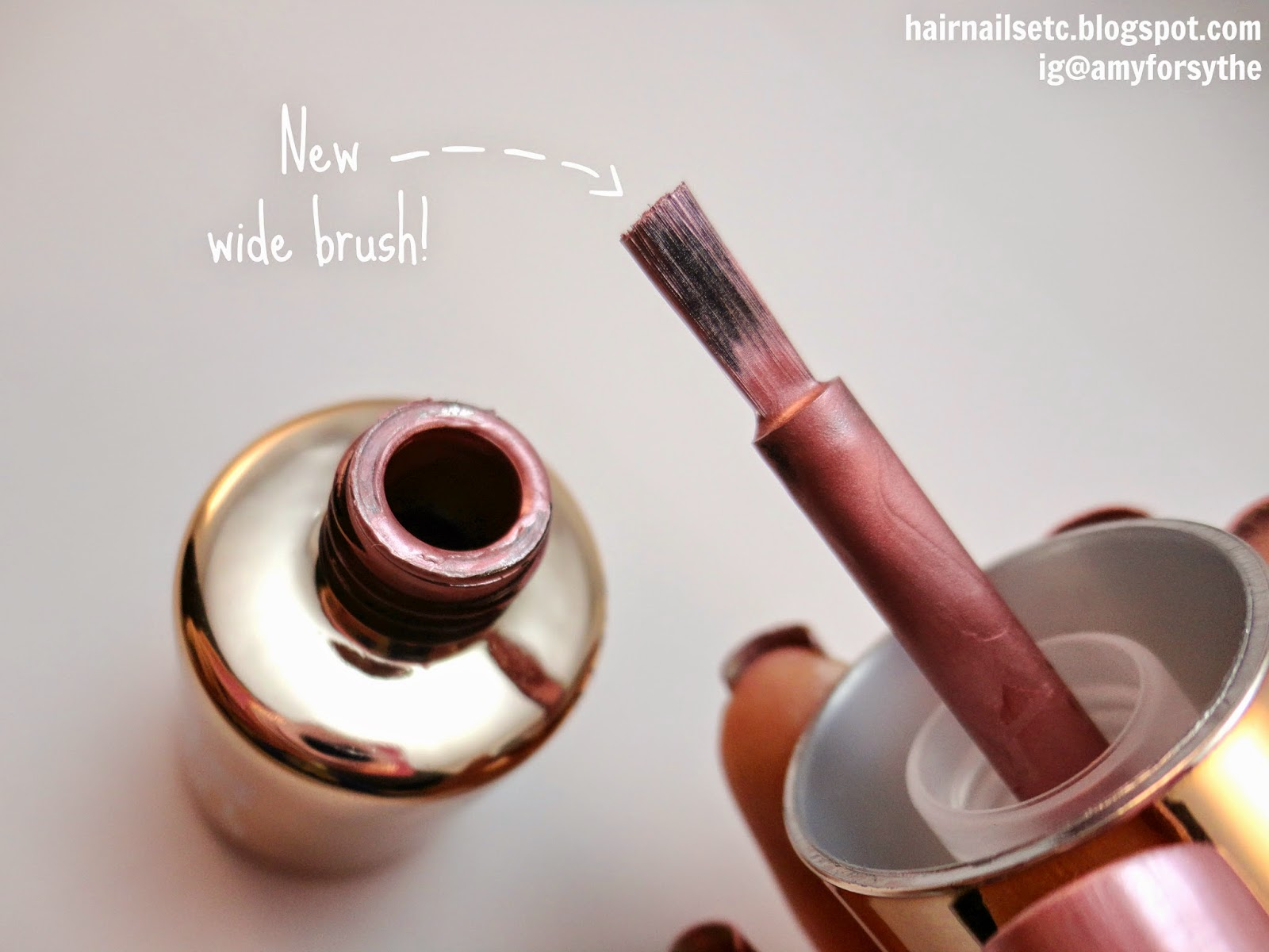 Models Own Colour Chrome Rose Nail Polish Brush