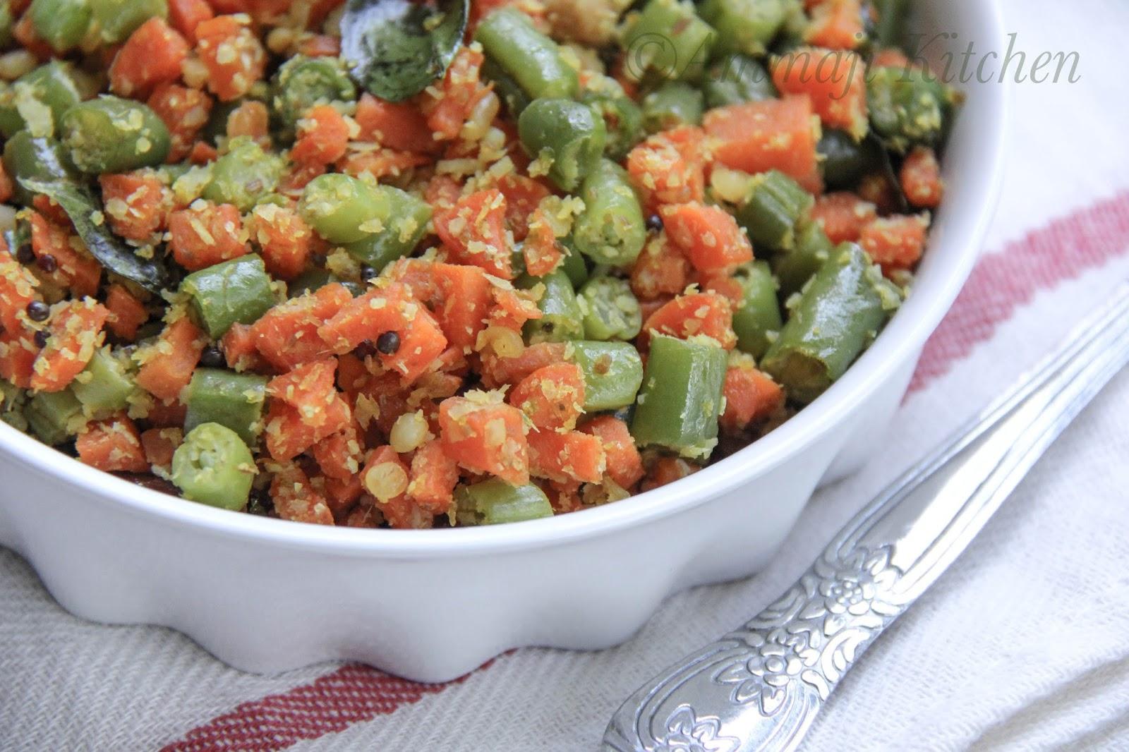 Bean Carrot Palya