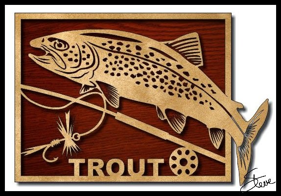 Scrollsaw Workshop Trout Scroll Saw Pattern Gorgeous Scroll Saw Patterns