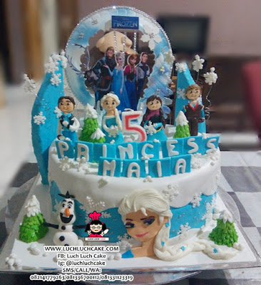 Birthday Cake Frozen Fondant Surabaya - Sidoarjo