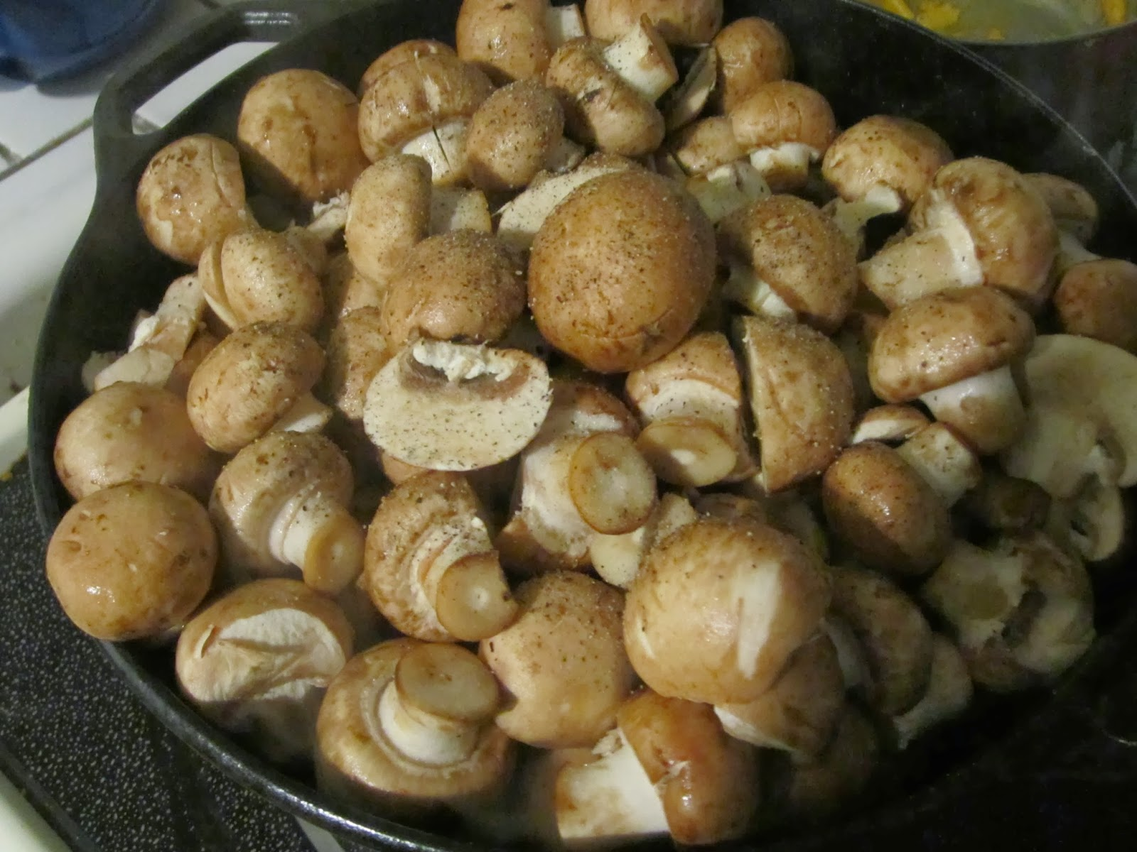 Yankee-Belle Cafe: Chicken and Mushrooms in a Cast Iron Dutch Oven and ...