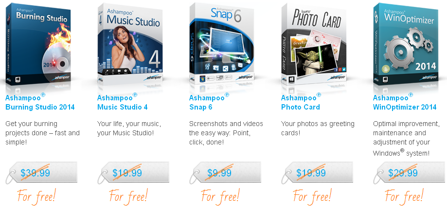 Ashampoo software gifts