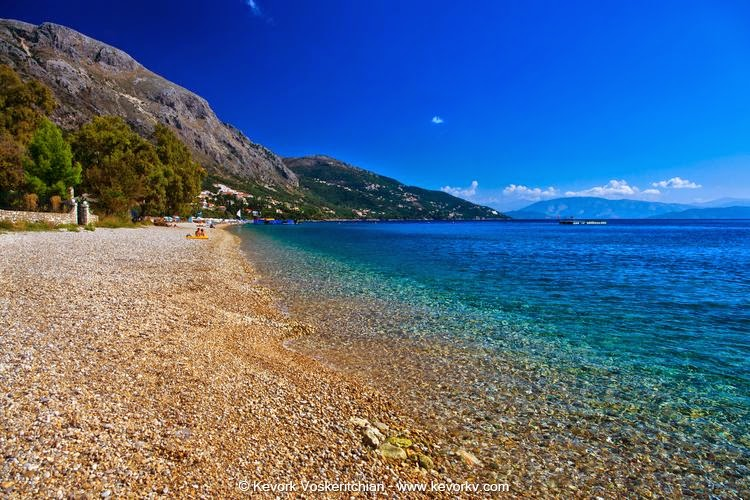Barbati Beach, Corfu, in Winter