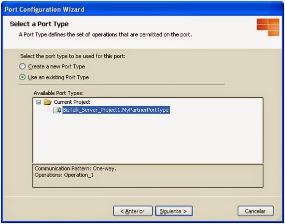 Configure BizTalk Direct Binding Partner Port - Step 5