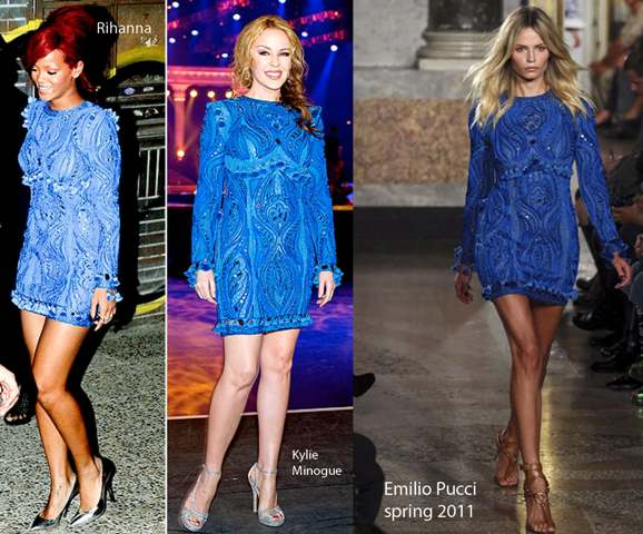 Kylie Minogue vs Ryhanna: Who looks better on Emilio Pucci???