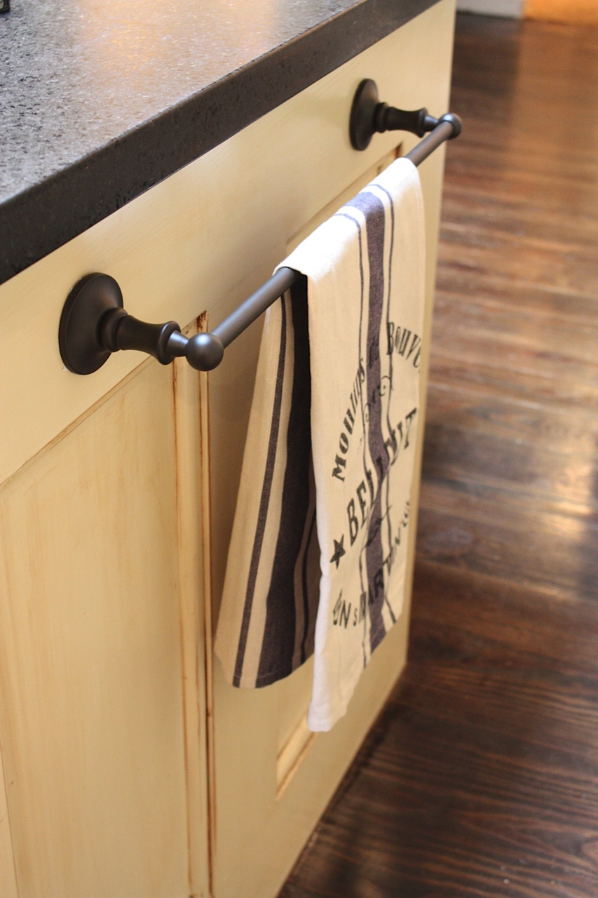 delightful kitchen towel bars ideas #1 - Kitchen Towel Bars Ideas My Sweet On Using Bathroom Hardware In The Kitchen