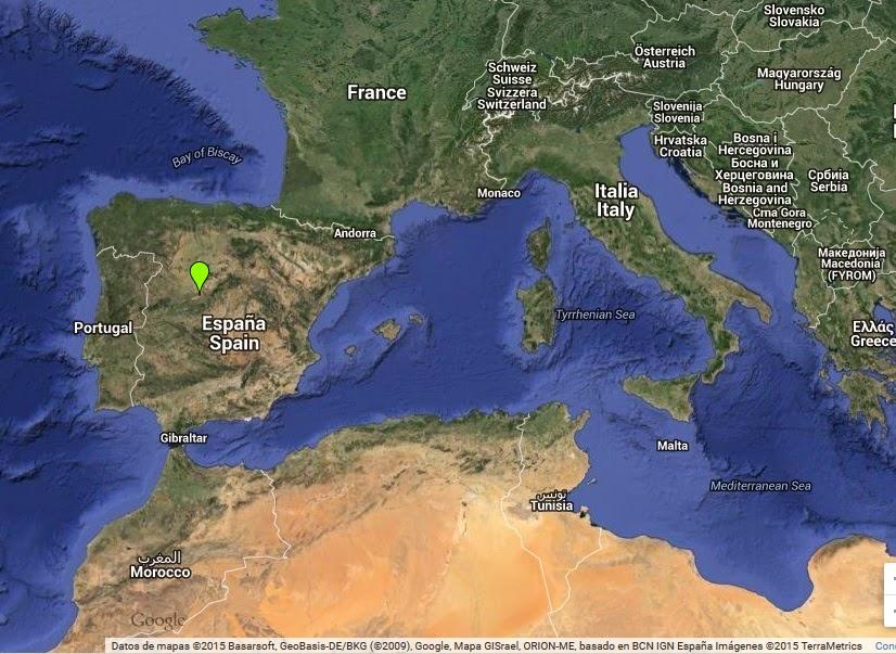 Mapa de situación de la ciudad de Ávila (España) - www.historiadelascivilizaciones.com