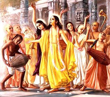 Chaitanya Mahaprabhu and Swami Prakashanand Saraswati