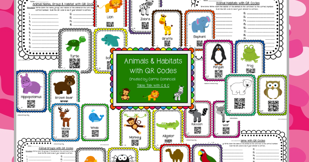 Table talk with c and c animals and habitats qr codes for Code habitat