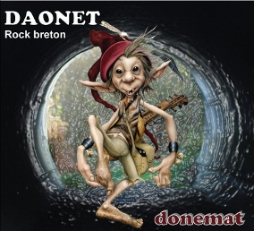 Pochette Album Donemat distribution Coop Breizh - visuel lutin musicien dessiné par Brucéro pour Daonet