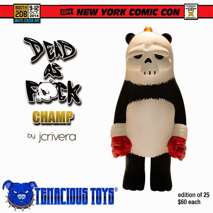 New York Comic Con 2014 Exclusive Panda Edition Dead as F#ck Champ Resin Figure by JC Rivera