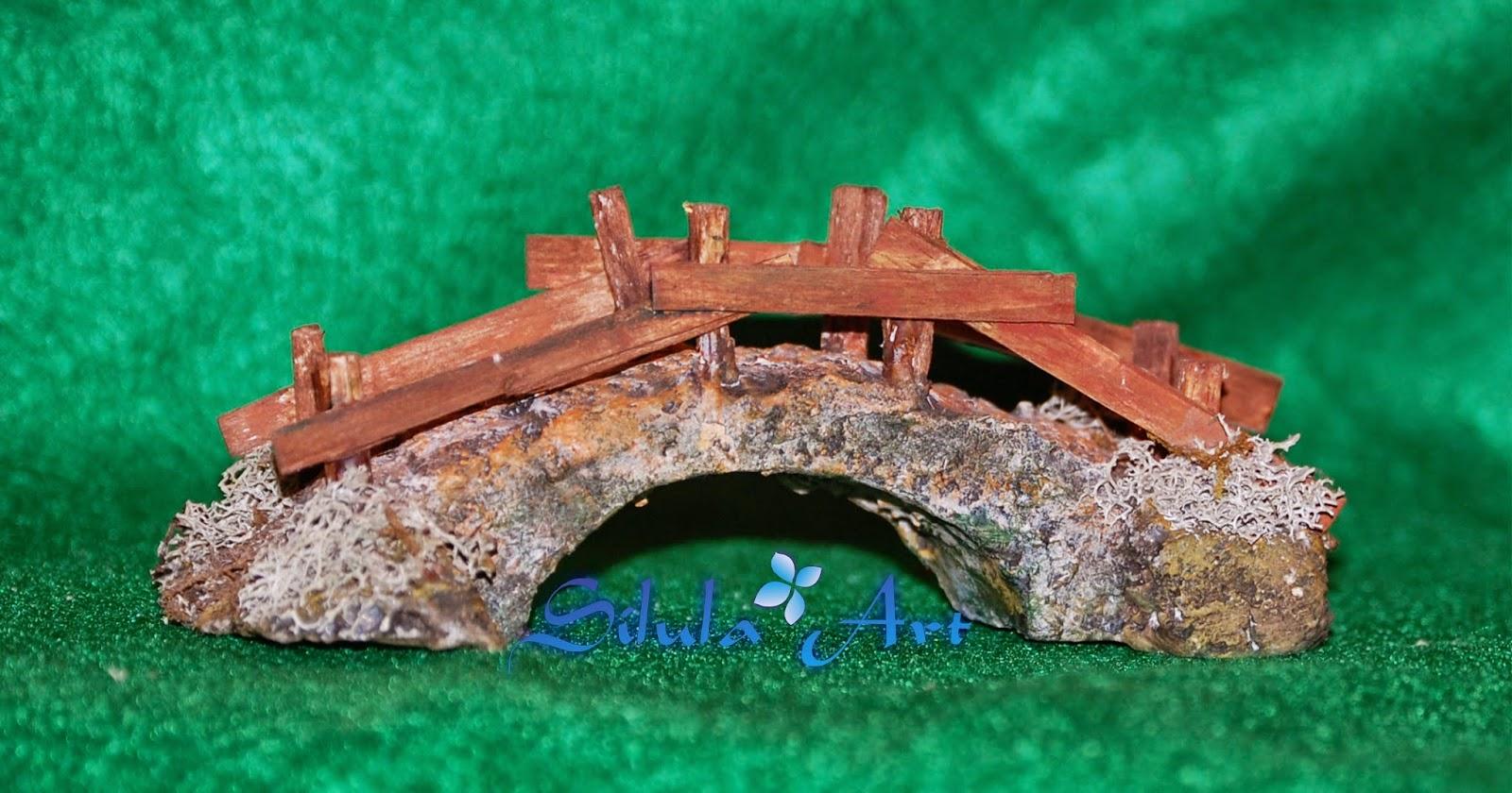 silula art ponte di legno presepe artigianale
