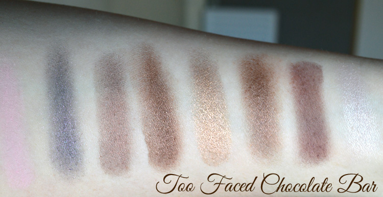 Too Faced Chocolate Bar Palette and Too Faced Semi-Sweet Chocolate Bar Palette Review and Swatches