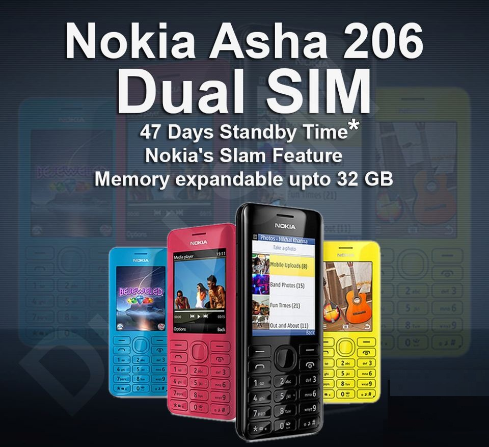 Nokia Asha 206 Dual Sim Mobile-Features,Specifications,Review