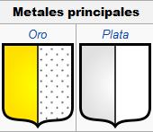 Metales principales. Cromatología de los blasones