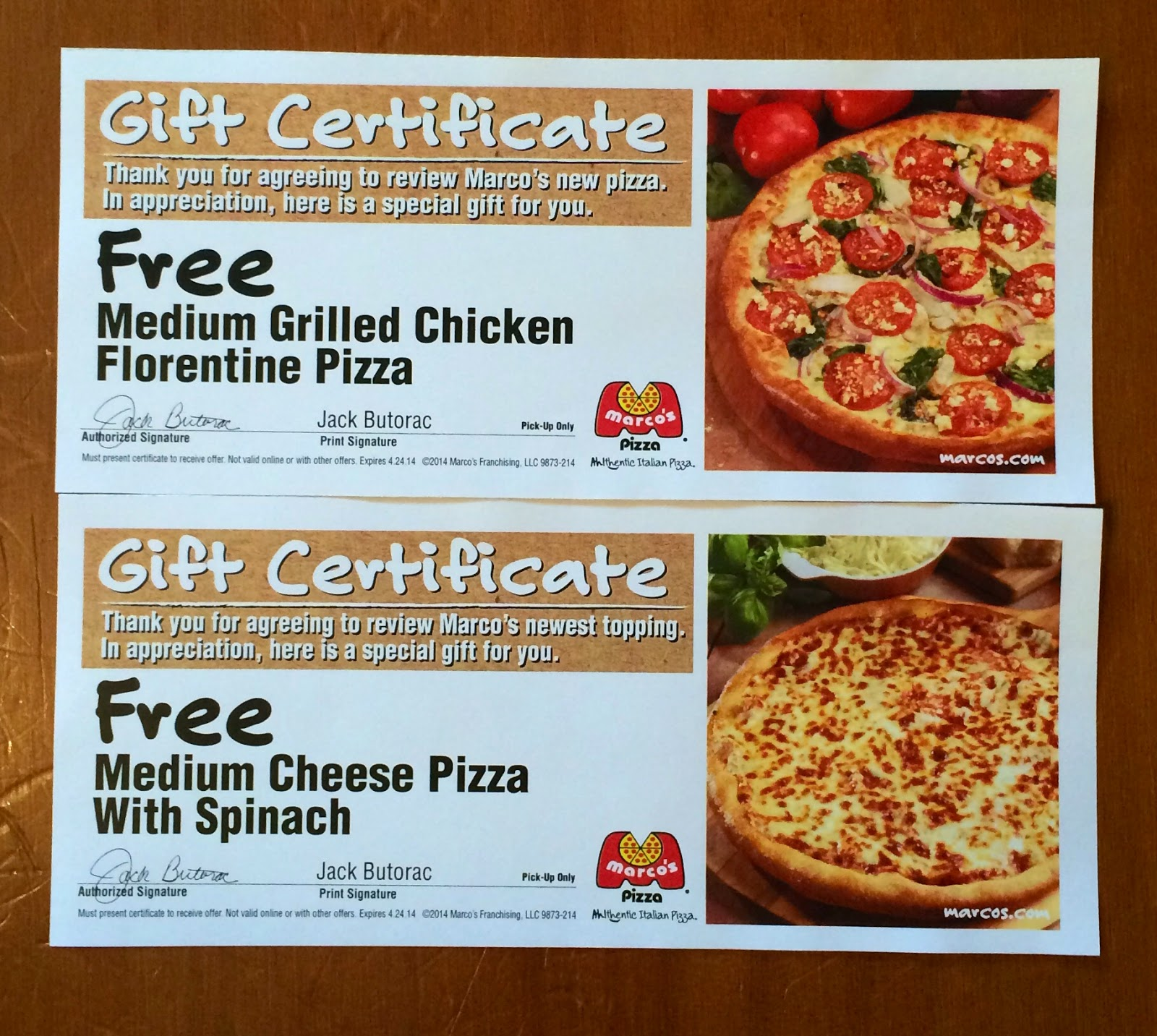 Marco's Pizza Coupon & Deal