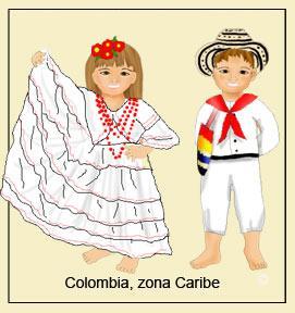 Dibujos de traje tipico de colombia para imprimir
