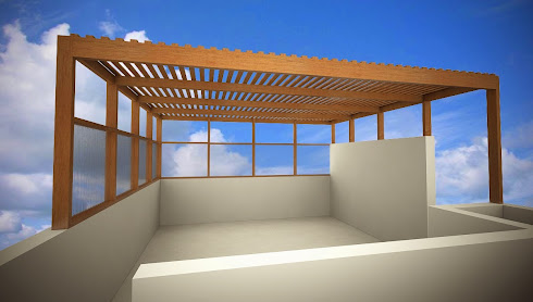 techo sol y sombra policarbonato. Black Bedroom Furniture Sets. Home Design Ideas