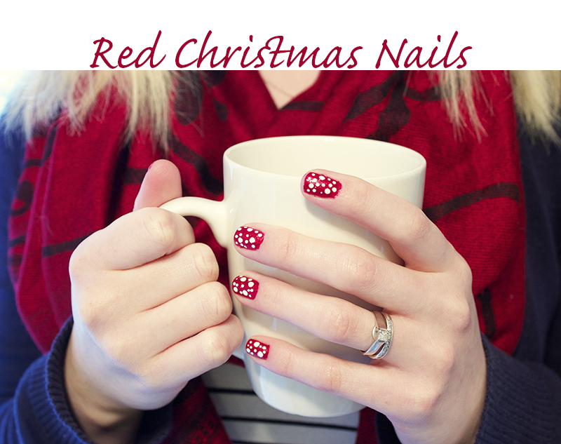 so i know that its a little early to be thinking of pulling out the christmas nails carols fuzzy socks etc but i figured that every year i wait until - Red Christmas Nails
