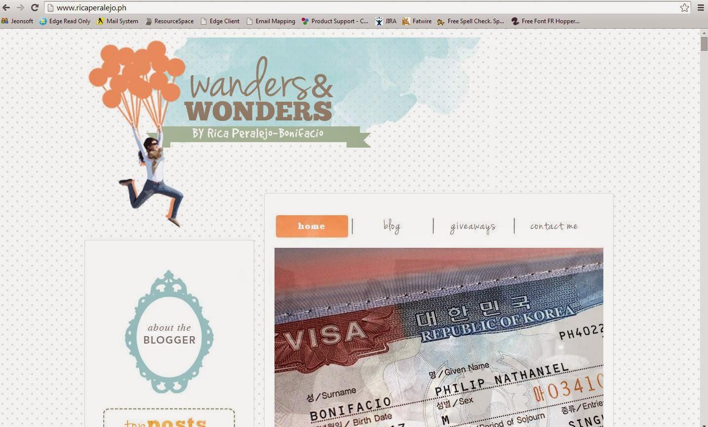 Wanders & Wonders by Rica Peralejo