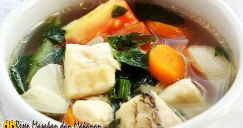 resep untuk membuat sup ikan gurame