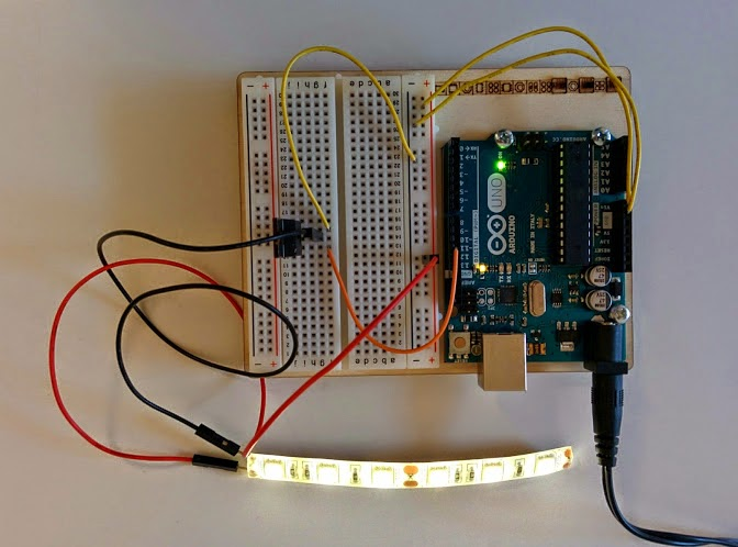 Driving a led strip with arduino yet another