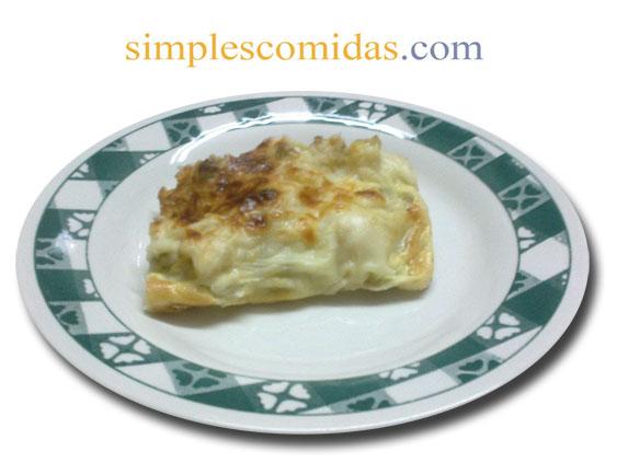 coliflor en salsa blanca gratinada