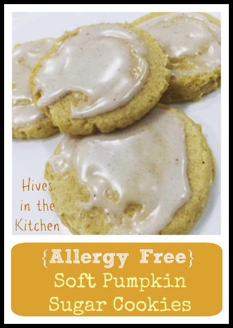 Allergy Free} Soft Pumpkin Sugar Cookies