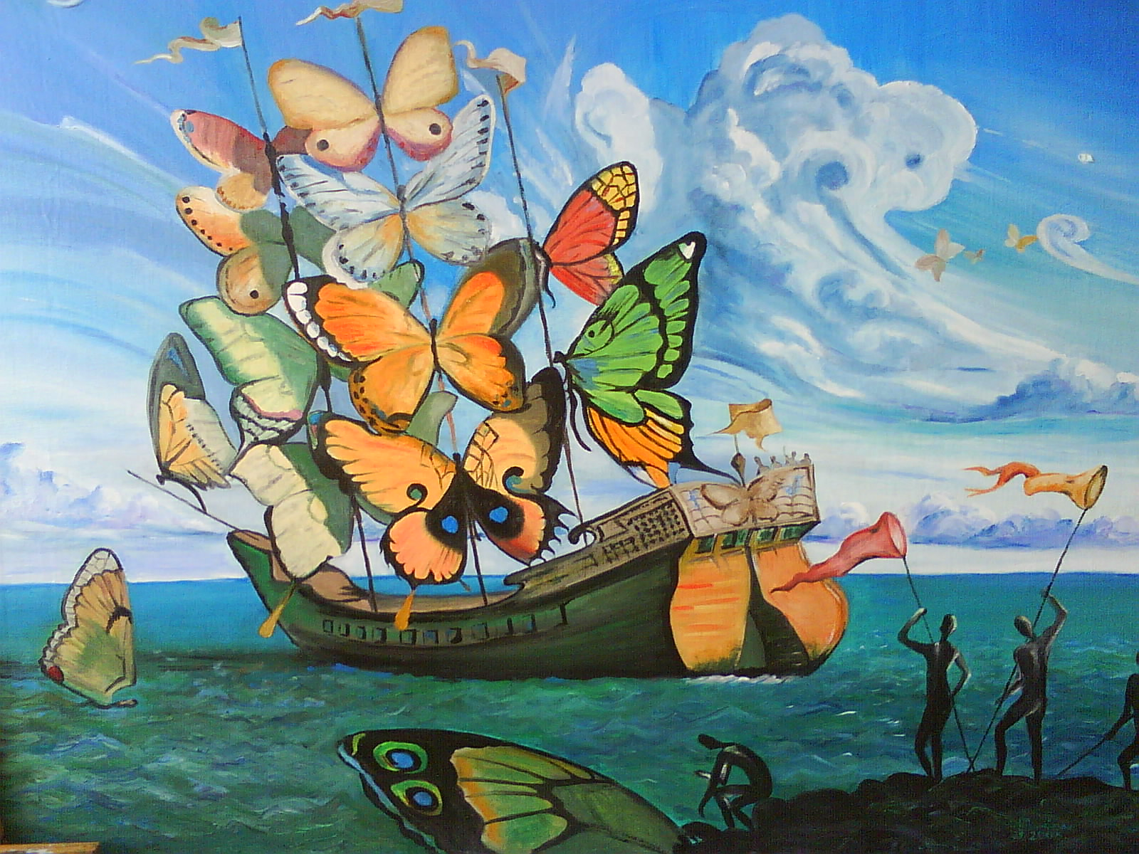 Salvador dali butterfly painting dali wallpapers free c a r w a l l