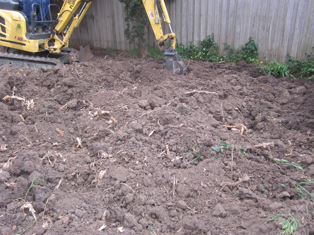 Digging up the soil